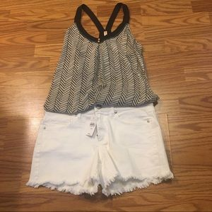 Ann Taylor Loft Scalloped Jean shorts